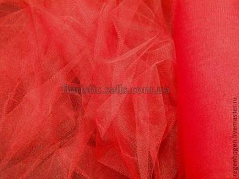 Фатин 100/75 см, червоний.