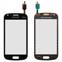 Сенсор (тачскрин) для Samsung S7582 Galaxy Trend Plus Duos черный Оригинал