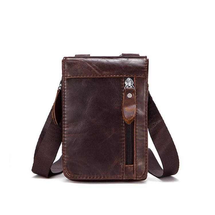 Мужская кожаная мини сумочка Marrant
