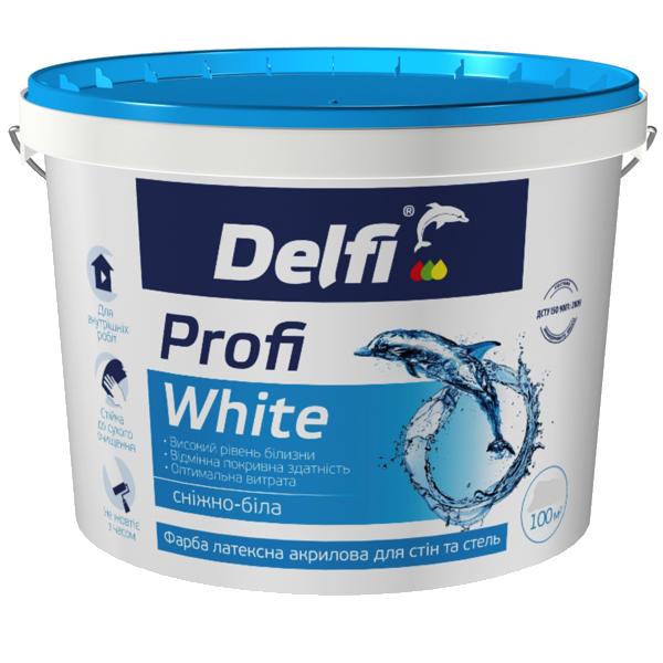 """Фарба латексна акрилова для стін і стель """"Profi White"""" - Delfi (4,2 кг)"""