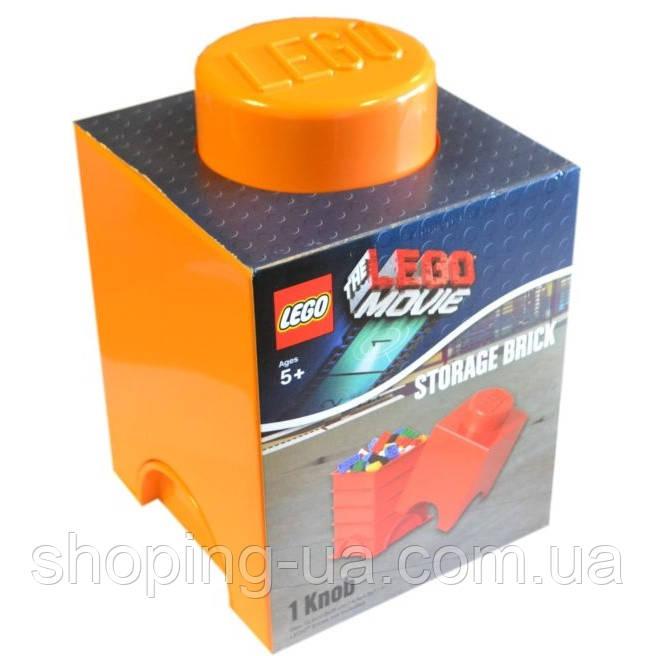 Одноточечный оранжевый контейнер для хранения Lego 40011753