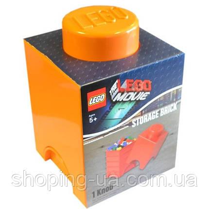 Одноточечный оранжевый контейнер для хранения Lego 40011753, фото 2