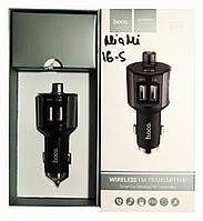 Автомобільний зарядний пристрій + FM трансмітер Hoco E19 Bluetooth Black