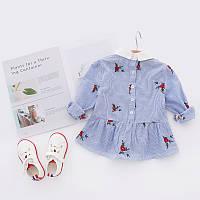 Модное летнее платье с цветами для детей , распродажа склада: 110см,130см,140см