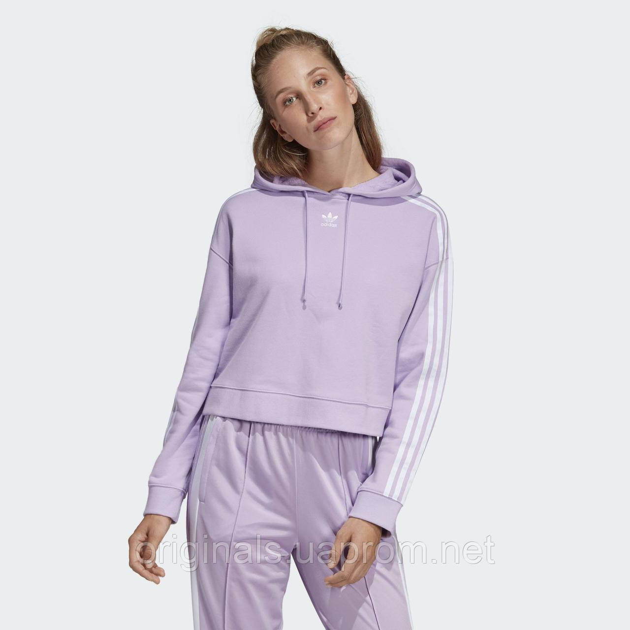 Укороченное худи женское Adidas Cropped DX2158