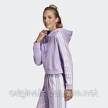 Укороченное худи женское Adidas Cropped DX2158  , фото 3