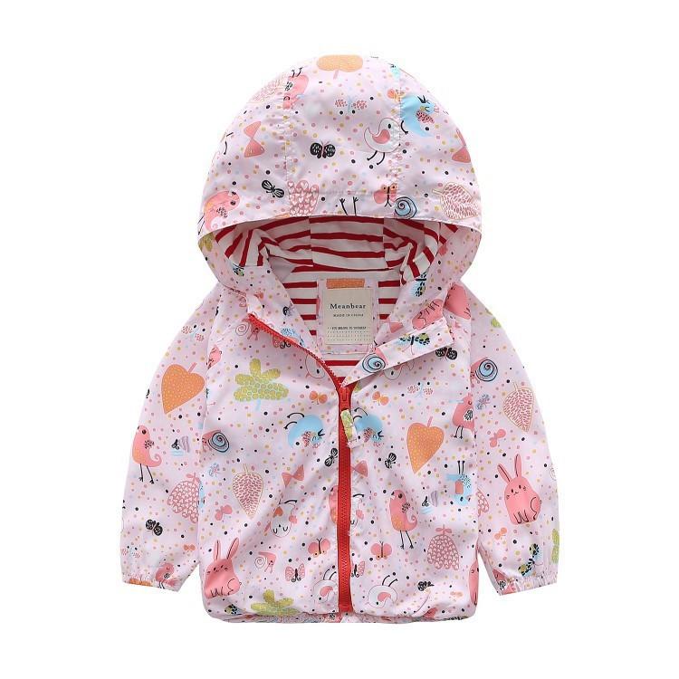 Весенняя куртка Meanbear с котоновой подкладкой : 120см,130см,140см