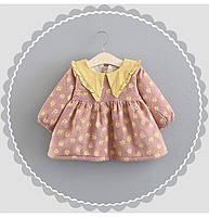 Милое детское платье утепленное плюшем Flower  , Распродажа! Скидка -30% : 80см-86см,98см