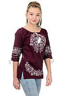 Модная  блузка, сорочка,  вышиванка для девочки  , Вишиванка дівчача, р-р 42-52