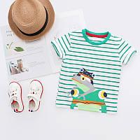 Стильная детская футболка из чистого хлопка высочайшее качество , Распродажа коллекции -30%, размеры: 110см,120см,130см,90см