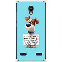Силиконовый бампер чехол для ZTE Blade A520 с рисунком Пёс Макс