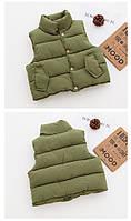 Теплая приятная, качественная жилетка для детей  , распродажа склада: 120см,130см,90см
