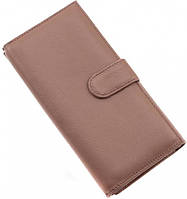 Пудровый кожаный кошелёк с отделом для визиток Marco Coverna