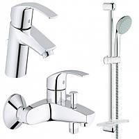 Набор смесителей Grohe Eurosmart 3 в 1 для ванны и душа