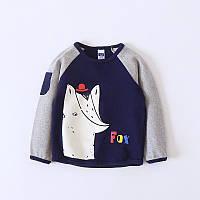 Модный детский свитер с лисой, супер качество: 110см,120см,130см,90см