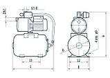 Насосная станция Насосы+Оборудование AUJS 110/24L без пятерника, фото 4