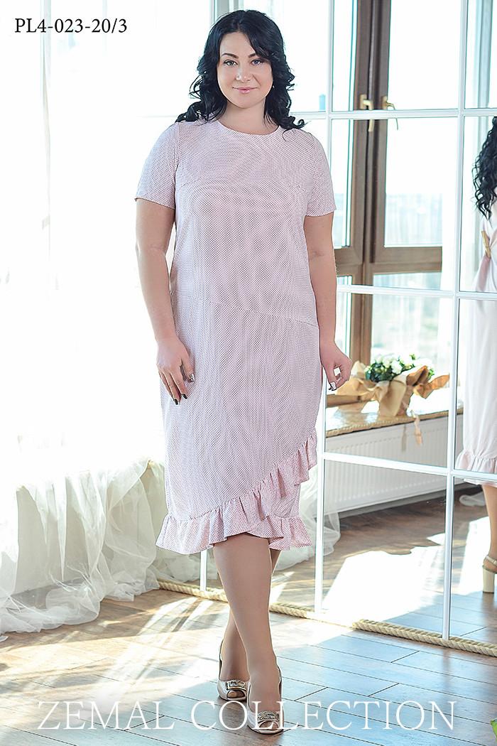 a8778e7ffeee78d Размер 52,54,56,58,60,62 / Женское платье из вискозного шелка в ...