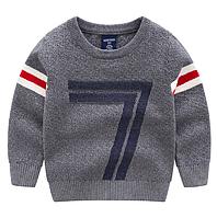 Теплый качественный свитер на осень для мальчиков серого цвета, арт. - 39835 , Суперпредложение -22% : 100см,130см,140см