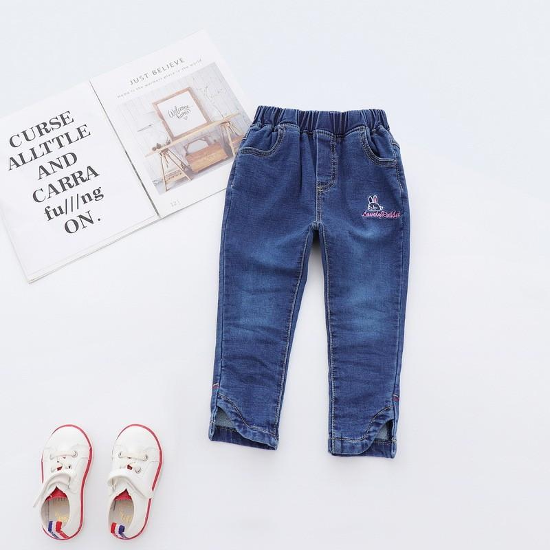 Детские стильные джинсы Lovely Rabbit : 120см,130см,140см,150см