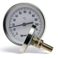 Термометр биметаллический  аксыальний с погружной гильзой Watts T63/50 F+R801 код: 0301040
