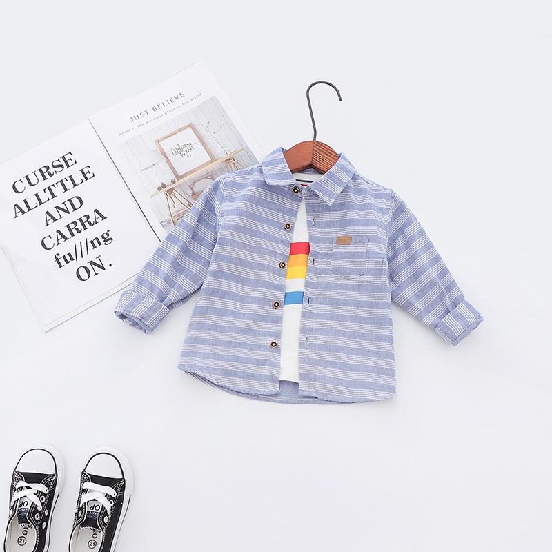 Рубашка для детей в полоску JBCK : 100см,110см,120см,130см