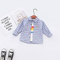 Рубашка для детей в полоску JBCK : 100см,110см,120см,130см, фото 1