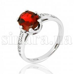 Серебряное кольцо с гранатом 28929