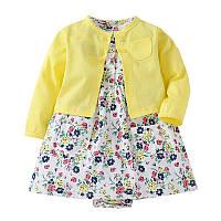 Летний комплект для девочки (платье + кофточка) , Скидка -12% : 12M,24M,9M