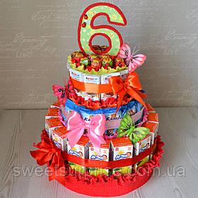 """Торт в детский сад из конфет и сока """"Агуша"""""""