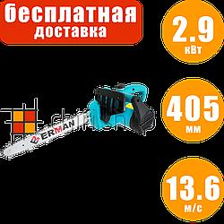 Электропила цепная боковая Erman GC 127, 2.9 кВт, 405 мм, электрическая пила цепная