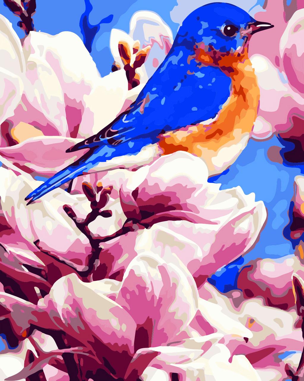 Художественный творческий набор, картина по номерам Яркая птичка, 40x50 см, «Art Story» (AS0279)