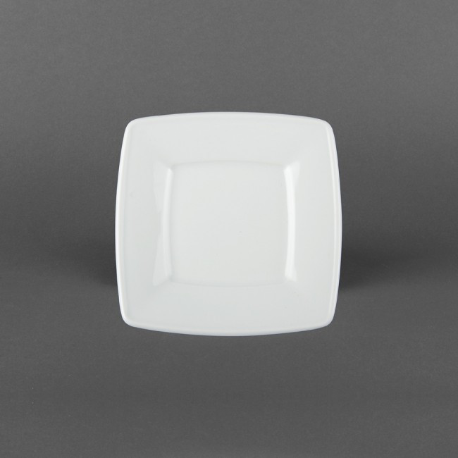 Тарелка квадратная фарфоровая, квадратная посуда для ресторанов Lubiana Victoria 160х160 мм (2727)