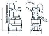 Дренажный насос Насосы+Оборудование Garden-DSP3-4/0.25Р, фото 4