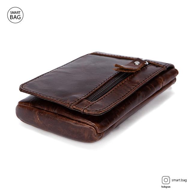 Мужская кожаная мини сумочка Marrant | коричневая вид сверху