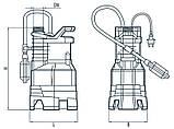 Дренажный насос Насосы+Оборудование Garden-DSP9-5,5/0.75РD, фото 4