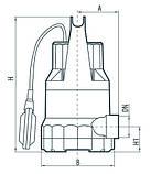 Дренажный насос Насосы+Оборудование DSP 750P, фото 4
