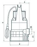 Дренажный насос Насосы+Оборудование DSP 750PD, фото 4