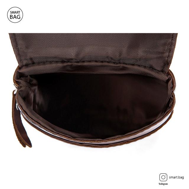 Мужская кожаная мини сумочка Marrant | коричневая главное отделение