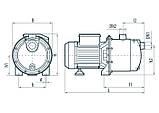 Центробежный поверхностный насос Насосы+Оборудование JS 80, фото 4