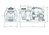Центробежный поверхностный насос Насосы+Оборудование Garden-JLUX 1,5-25/0,65, фото 4