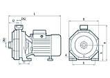Центробежный поверхностный насос Насосы+Оборудование 2CPm 60/AISI316, фото 4