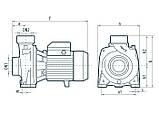 Центробежный поверхностный насос Насосы+Оборудование DTm 18, фото 4
