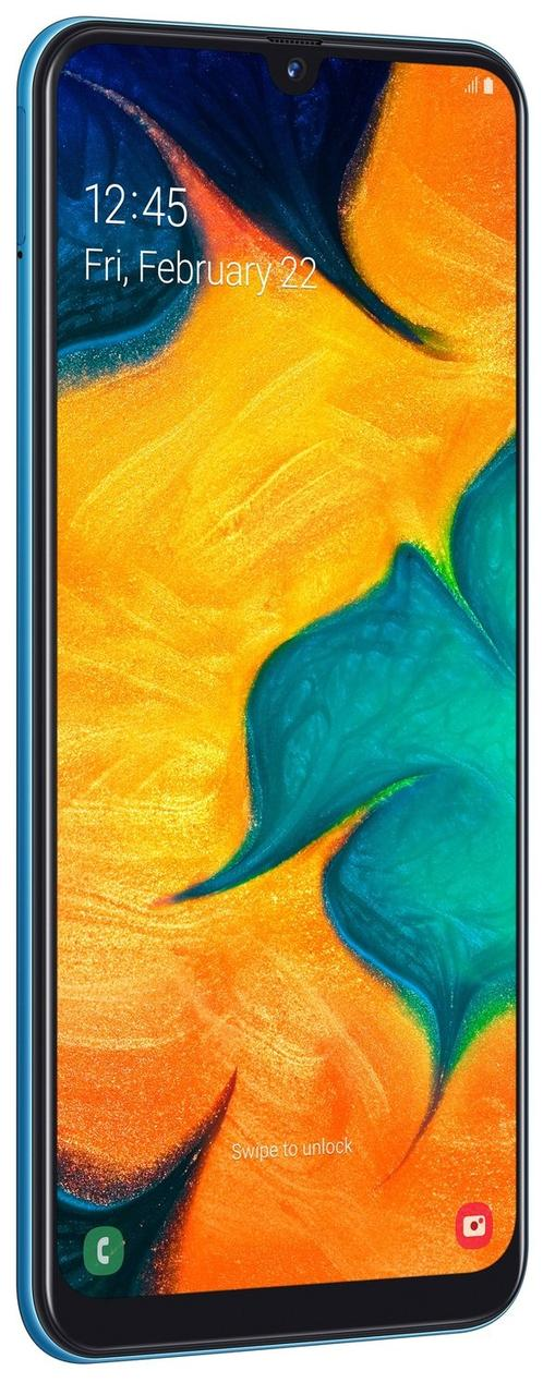 Смартфон Samsung Galaxy A30 3/32Gb (SM-A305FZKUSEK) Оригинал Официальная гарантия 12 месяцев Blue