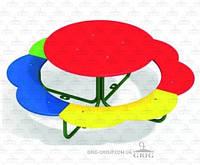 Столик с лавками Ромашка