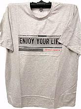Большая футболка мужская от Daniel Jones с надписью Enjoy Your Life батальные размеры