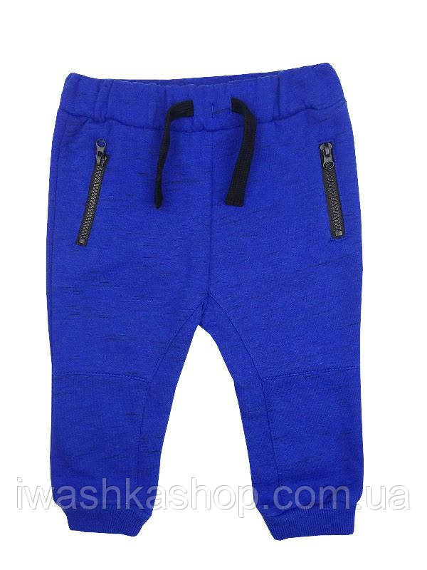 Теплые спортивные штаны, джоггеры на мальчика 6 - 9 месяцев, р. 74, Early Days by Primark