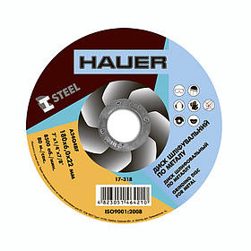 Диск шлифовальный Hauer по металлу 180 х 6.0 х 22 мм (17-318)