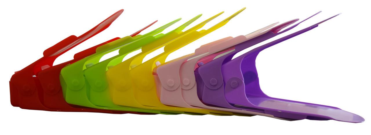 Полочка-стойка для обуви, набор, органайзеры для обуви, система хранения обуви (10 стоек/уп.)