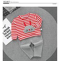 Костюм для девочки полосатый мультяшный  , Final Sale -40%, размеры: 116см-122см,128см,98см