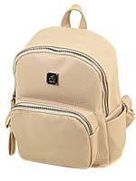 Женский светлый рюкзак 2-05 1703-2 light-coffee, фото 1